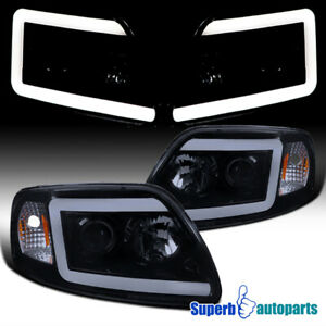 For 1997 2003 Ford F150 Expedition Led Drl Smoke Projector Headlights W Signal