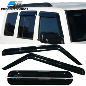 Fit 06 10 Jeep Commander Sedan Window Visors Rain Sun Guard Acrylic 4 Pieces Set