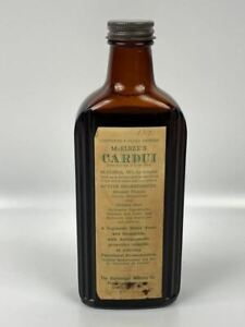 Full Antique Mcelree S Cardui Medicine Bottle Vintage Apothecary Pharmacy