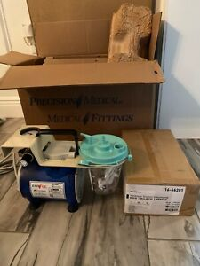 precision Medical Powervac Aspirator Suction Pump Pm60 With New Suction Suppl