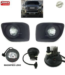 Led Replacement Fog Light Kit For Fits 2015 2019 Gmc Canyon Sl Sle Slt All Terr
