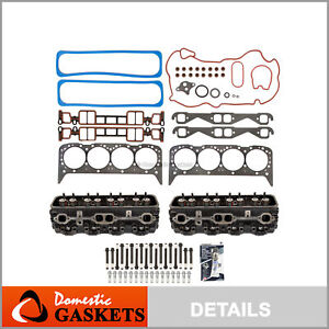 Complete Cylinder Head Bolts Head Gasket Set Fit 96 02 Chevrolet Gmc 5 7 Vortec