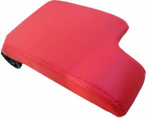 Red Real Leather Center Console Lid Armrest Cover For 99 06 Bmw E46