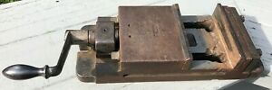 Vintage Heavy Duty 50 Lb Milling Machine Machinist Vise 6 Jaw 3 75 Opening