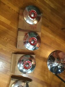 Nos Set 1955 Ford Set Of 4 Hub Caps Old Fomoco Boxes B5a 1130 D