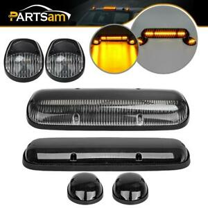 2sets Roof Cab Marker Amber Led Top Clearance Lights For Chevy Gmc Trucks 02 07