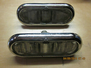 Oval Clear Glass Lamp Assemblies Circa 40 S 50 S Fits Packard