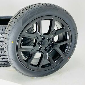 22 Gmc Sierra Yukon Black Wheels Rims Tires Chevy Silverado Tahoe Suburban