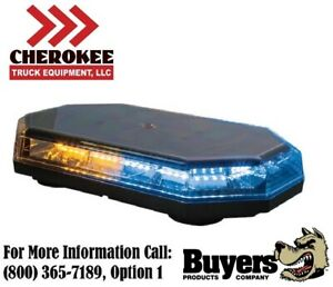 Buyers Products 8891068 15 Octagonal Led Mini Light Bar Amber blue
