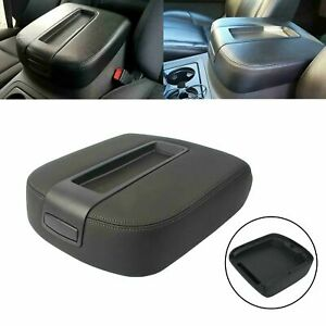 Black Armrest Lid Center Console Fit 2007 2014 Chevy Cadillac Gmc Pickup Truck