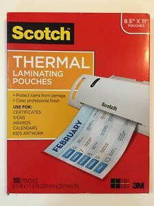 78 Scotch Thermal Laminating Pouches 8 9x11 4inches 3 Mil Thick