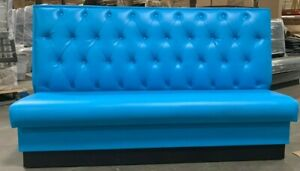 Restaurant Wall Bench Upholstered Diamond Tufted 42 high Back Made In Usa