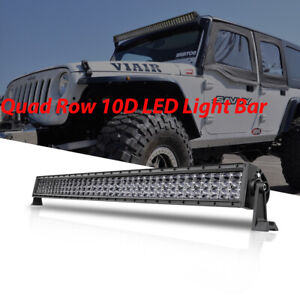 Led Light Bar 20 30 40 50 inch Quad Row 10d Spot Flood Driving Offroad Trucks