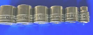 S K Tool Sk 3 8 Drive 12 Pt Standard Sae Socket Set Of 6 4500 Series New
