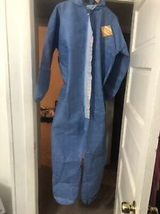 Ppe Ultra Protective Suit Coveralls Sz Large