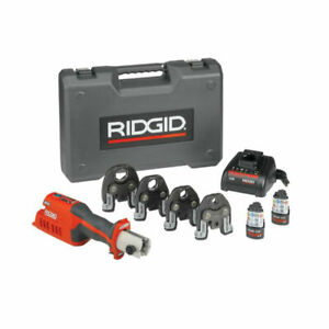 Ridgid 57363 Rp 241 Compact Press Tool Kit With 1 2 1 1 4 Propress Jaws