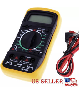 Electrician Multimeter Digital Tester Ac Dc Auto Volt Lcd Voltmeter Amp Ohm Work