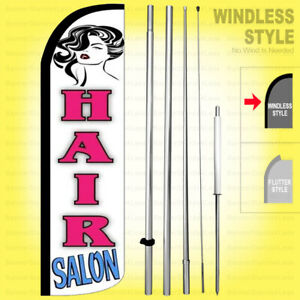 Hair Salon Windless Swooper Flag Kit 15 Feather Banner Sign Wq h