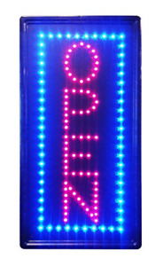 Led Neon Light Open Sign With Animation On off And Power On off Two Switchs B