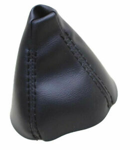 Black Real Leather Automatic Shift Boot For 99 06 Bmw E46