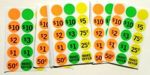 375 Garage Yard Sale Rummage Stickers Price Labels Sail See My Other Items
