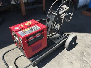 Lincoln Electric Welder Ln 8 Wire Feeder With Undercarriage And 60 Spool Used