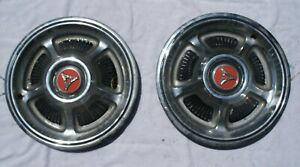 Two Vintage 1968 1969 Dodge Dart Charger Polaro Coronet Super Bee Rt Hubcaps Whe