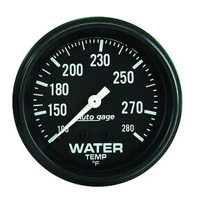 Auto Meter Autogage 2 5 8in Mechanical 100 280 Deg F Water Temp Gauge black