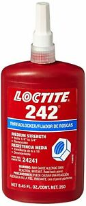 Loctite 242 250ml Medium Strength Thread Locker Free Shipping