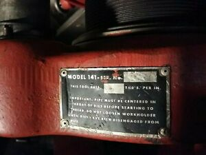 Ridgid 141 Pipe Threader 2 1 2 4 Used In Good Working Condition