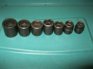 Snap on Tools 7 Piece 3 8 Drive Sae Short Impact Socket Set 6 Point 3 8 To 3 4