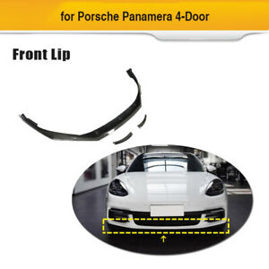 1set Front Bumper Lip Splitter Spoiler Carbon Fiber For Porsche Panamera 17 19