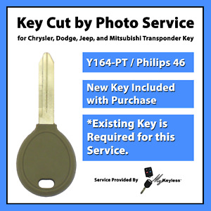 key Cut By Photo Service For Chrysler Dodge Jeep Transponder Key Replacement