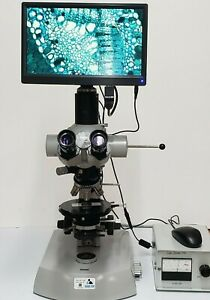 Zeiss Polarizing Microscope Transmitted Light With New Digital Tablet Camera