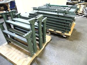 35 Of Hytrol Gravity Roller Conveyor Sections With Legs Lift Gate
