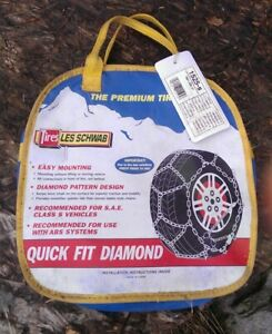 Quick Fit Car Tire Snow Chains Fits 13 Thru 15 Les Schwab Diamond 1525 s