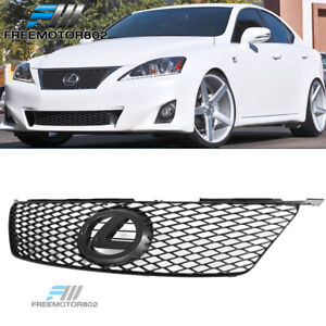 Fits 06 08 Lexus Is250 350 Isf Is F Style Front Bumper Mesh Grille Black