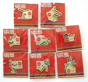 Tokyo Olympic Coca Cola Pin Badge Complete Set 2020 Judo table tennis Volleyball