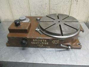 Sip Societe Genevoise Model Pd 2h Electric Power Rotary Table 12 115v 1 Ph