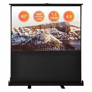 60 4 3 Pull Up Floor Projector Screen Fast Fold Unfold Home Trade Fair Office