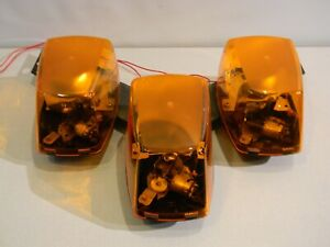 Federal Signal Mini Vector Amber Halogen Lightbar Securtiy Emergency New Domes