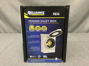 Reliance Controls Pb30 30 Amp Power Inlet Box For Generator Cord Connection
