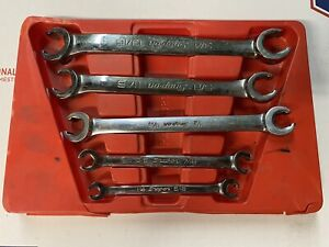 Snapon Flare Nut Brake Fuel Hydraulic Line Wrench Set Rxfs605b Read Snap On Sae