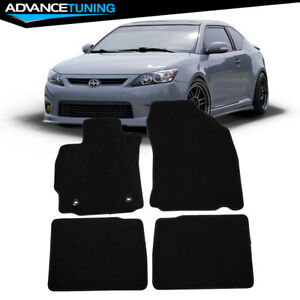 Fits 14 16 Scion Tc Coupe Floor Mats Carpet Front Rear Black Nylon 4pc