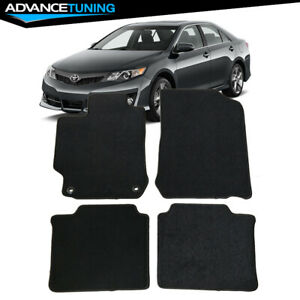 Fits 12 17 Toyota Camry 4dr Black Nylon Front Rear Floor Mats Carpets 4pcs