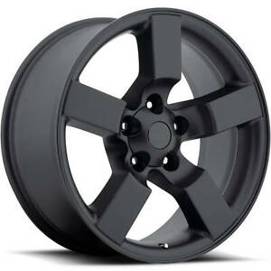 4 20x9 Satin Black Wheel Factory Reproductions Fr50 Ford Lightning Replica Wh
