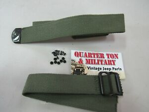Jerry Can Strap Kit Two Piece Premium Quality Fits Willys Military Jeep