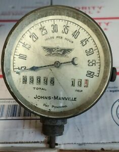 Antique Ford Model T Johns Manville Speedometer