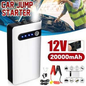 20000mah Mini Slim Car Jump Starter Engine Battery Charger Power Bank Portable