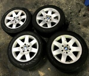 Bmw E46 3 Series Wheels Style 45 Rims With Tires 205 55 R16 Full Set Oem